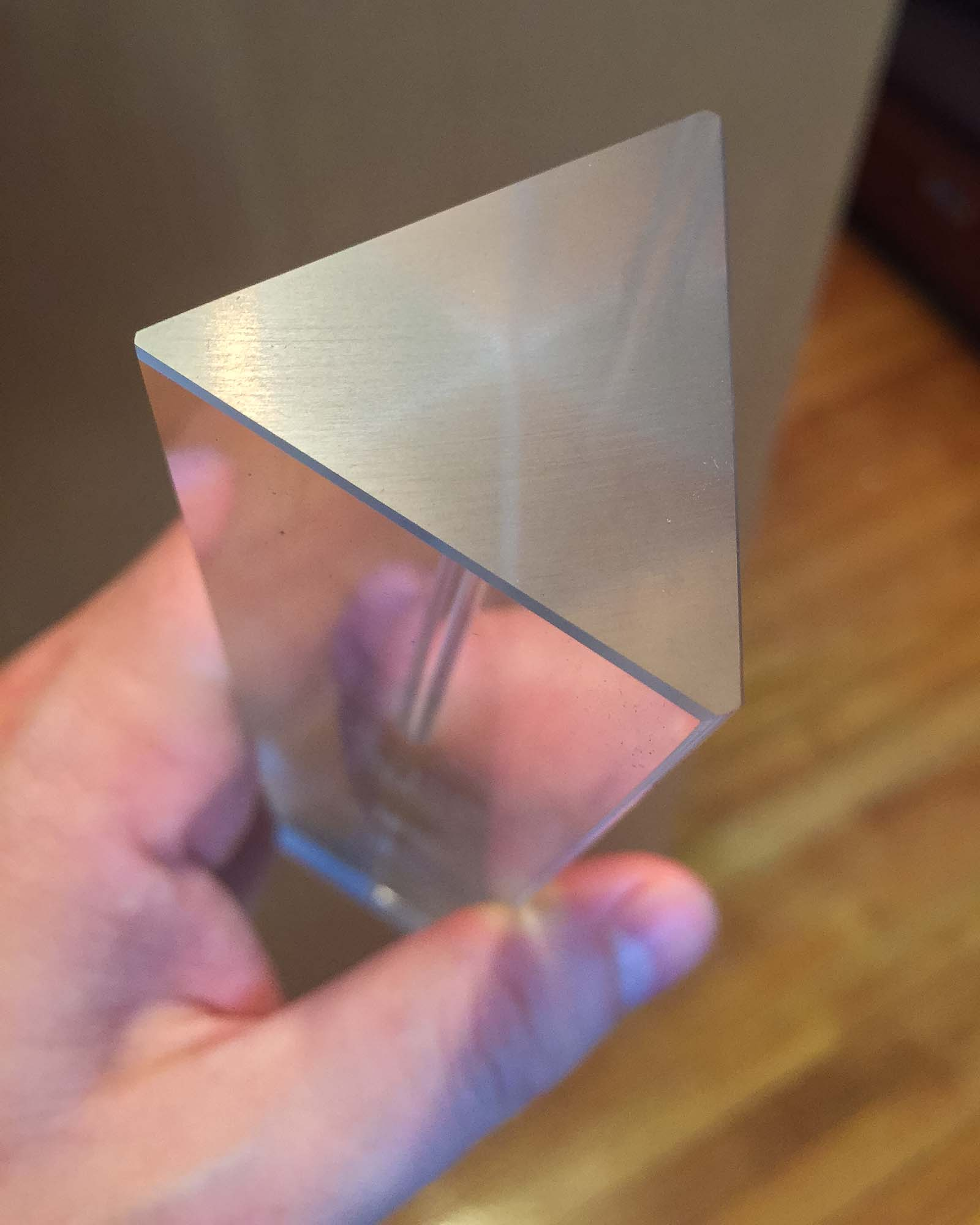 Large glass prism