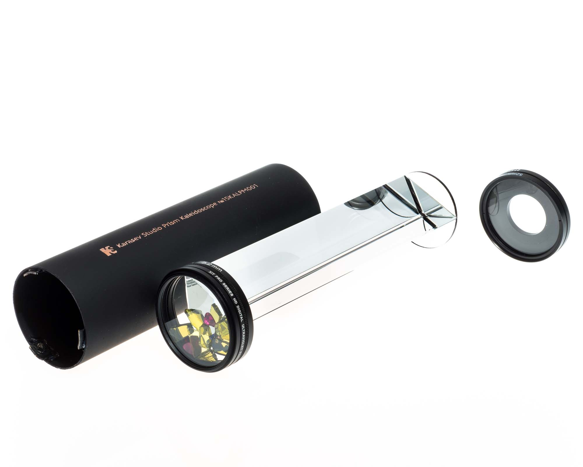 Casing, Prism Assembly with Capsule, and Cap with Magnifier